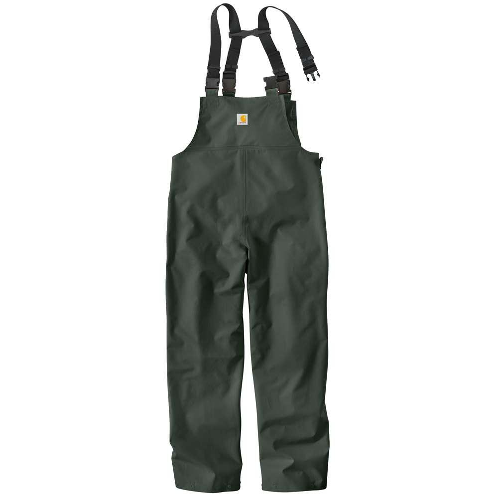 Men's Regular X Large Green Polyvinyl/Chloride Waterproof Bib Overalls