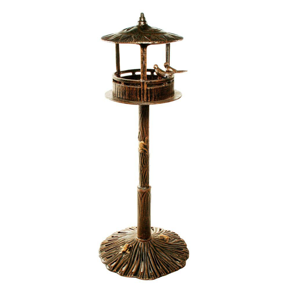 Oakland Sun God Bird House in Antique Bronze
