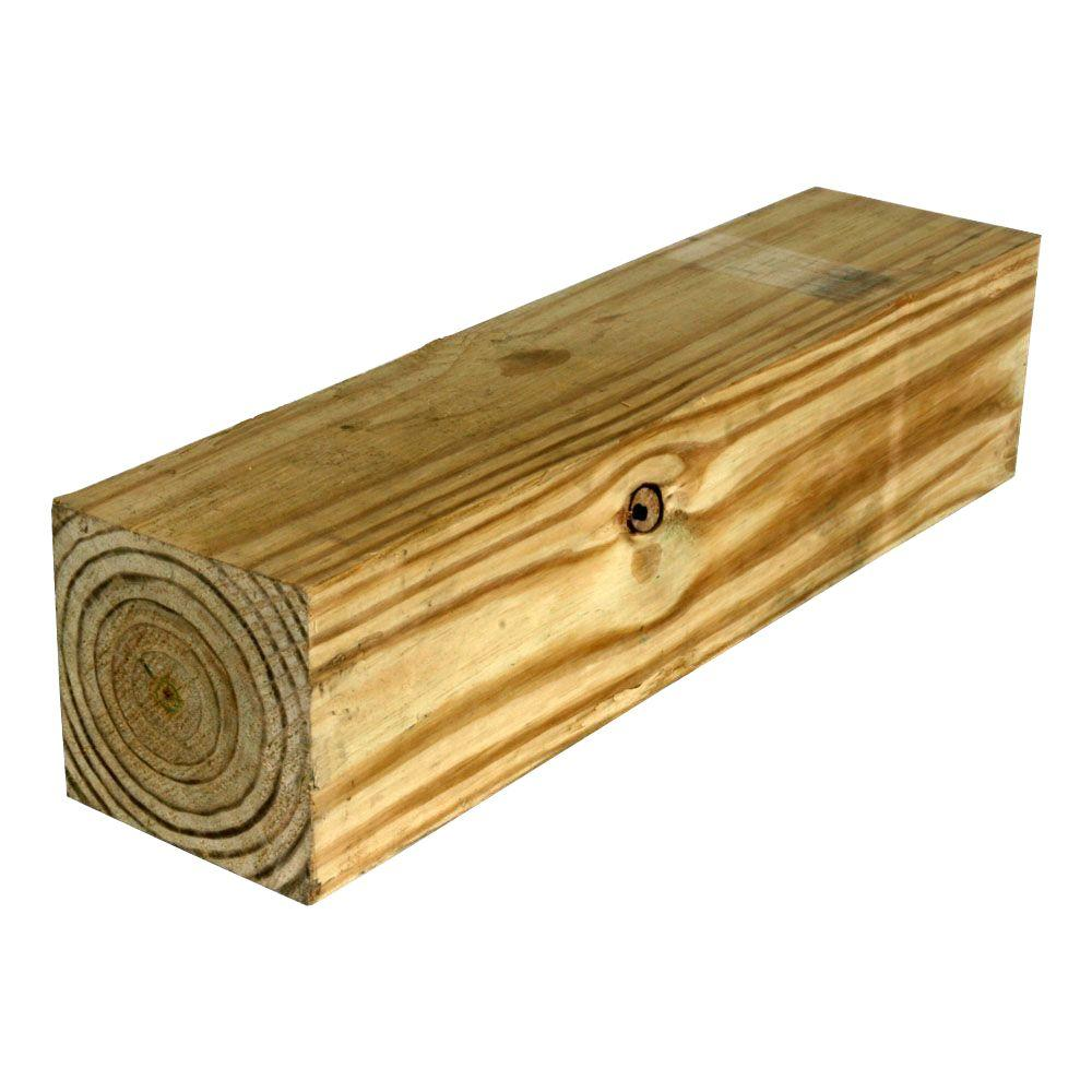 WeatherShield 6 in  x 6 in  x 8 ft  #2 Pressure-Treated Timber