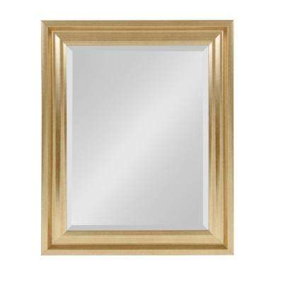 Umber Rectangle Gold Mirror