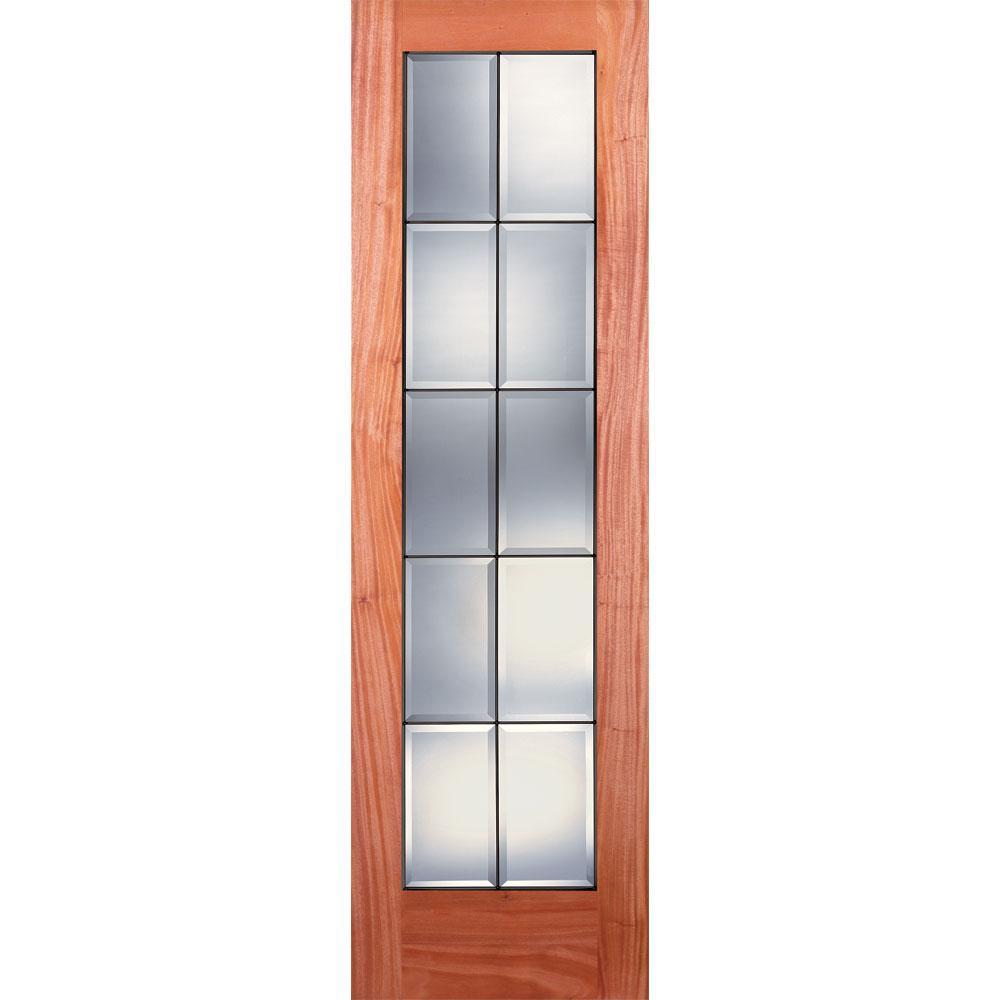 15 Lite Clear Bevel Patina Woodgrain Unfinished Cherry Interior Door Slab