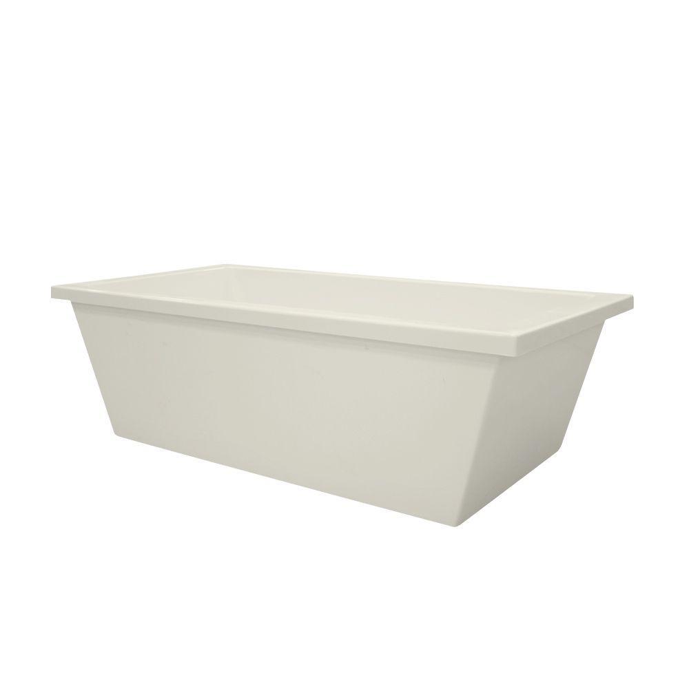 Brighton 5.5 ft. Acrylic Center Drain Freestanding Oval Air Bath Tub