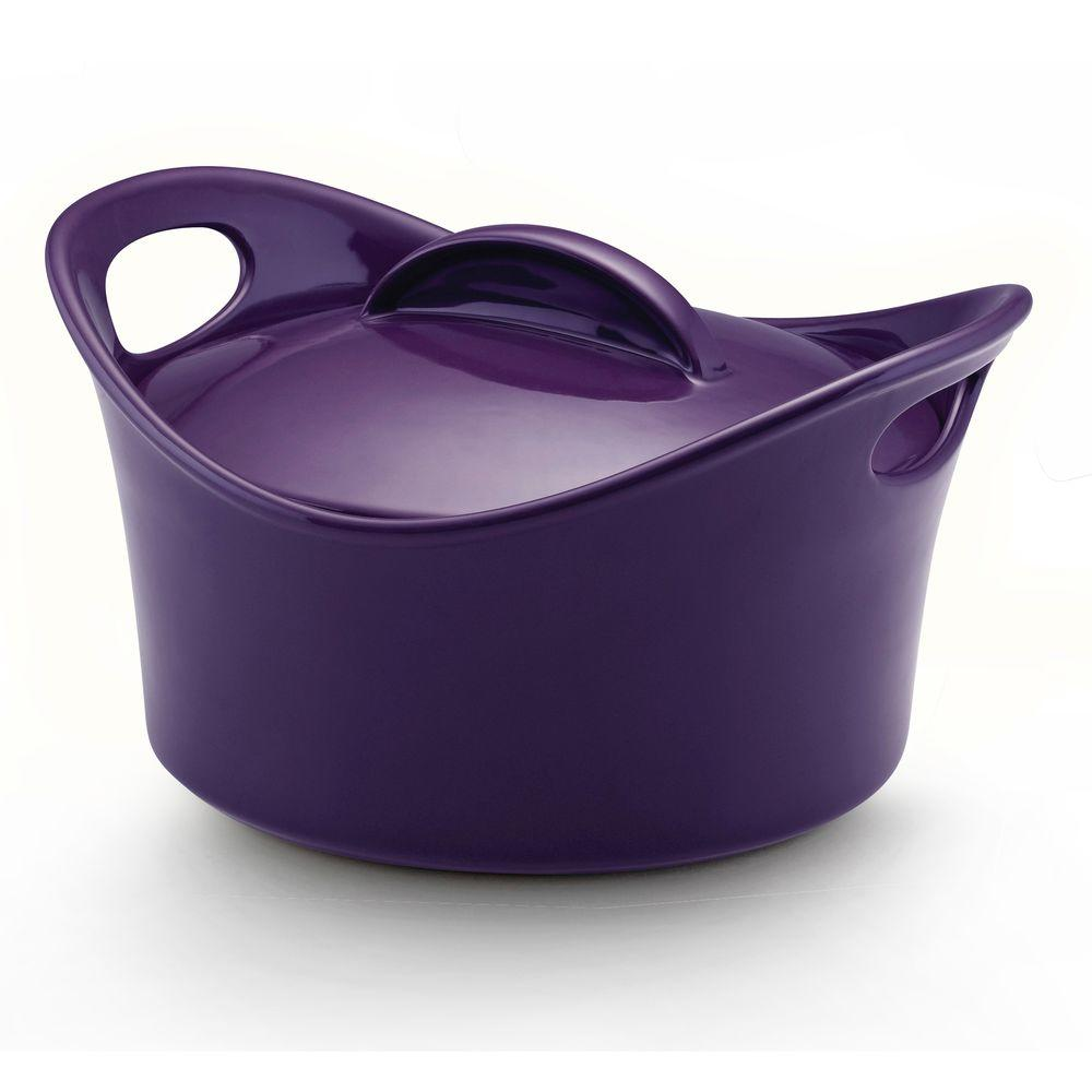 Rachael Ray Casserround 2-3/4 qt. Covered Casserole in Purple