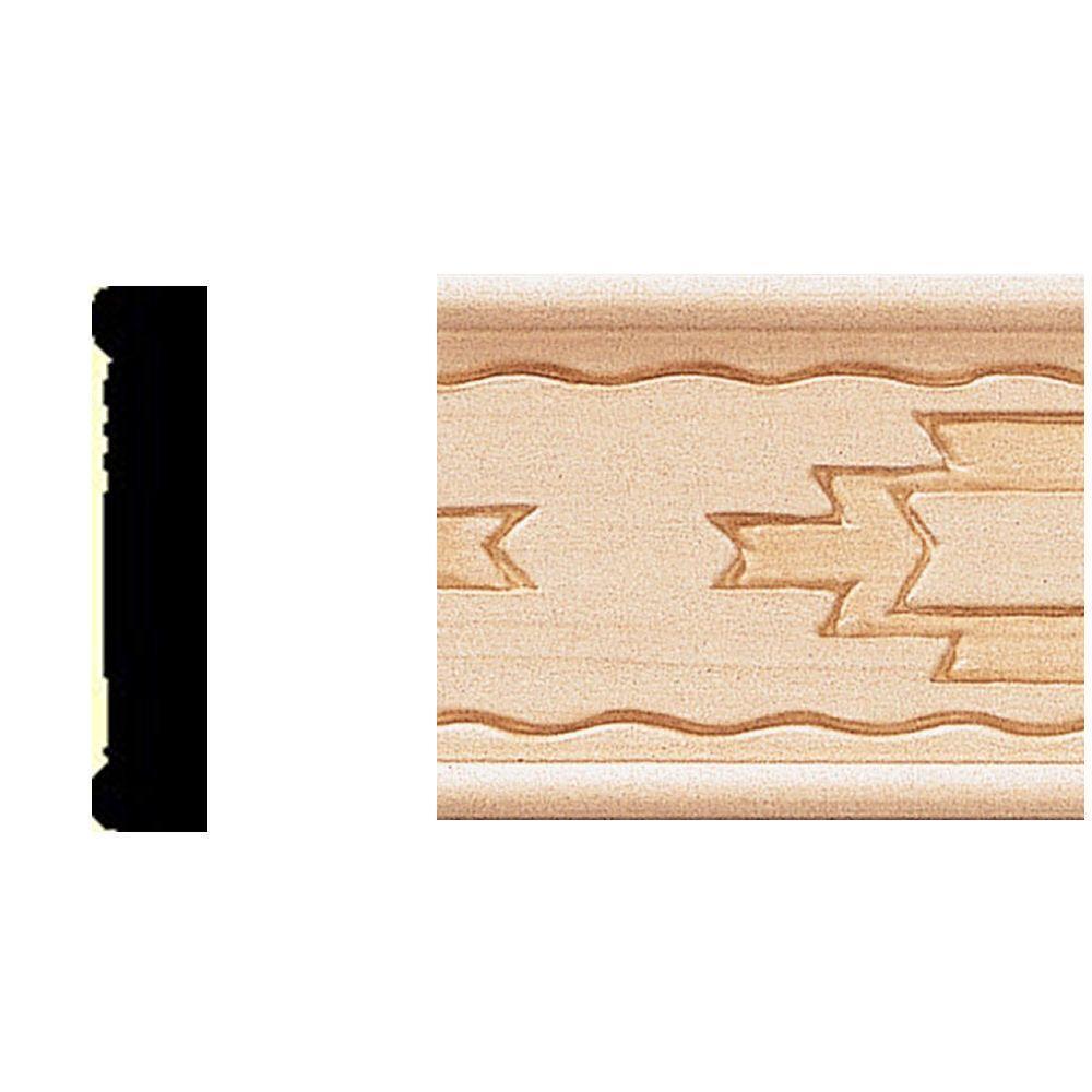 3/8 in. x 1-3/4 in. x 8 ft. Basswood Shelf Trim