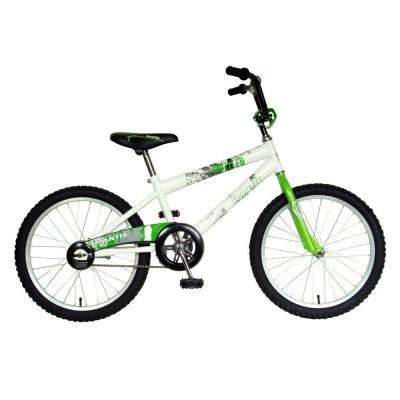 Grizzled Kid's Bike, 20 in. Wheels, 12 in. Frame, Boy's Bike in White/Green