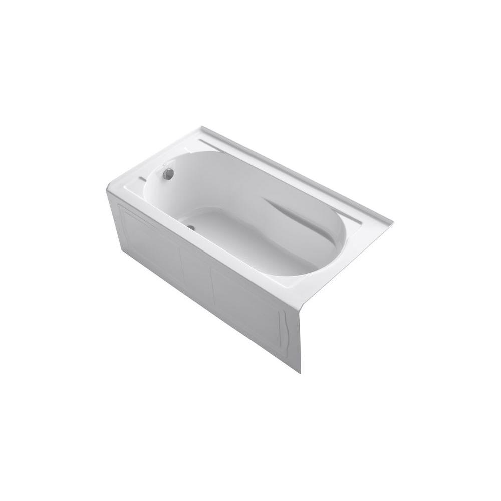 KOHLER Devonshire 5 ft. Left Drain Bathtub in White