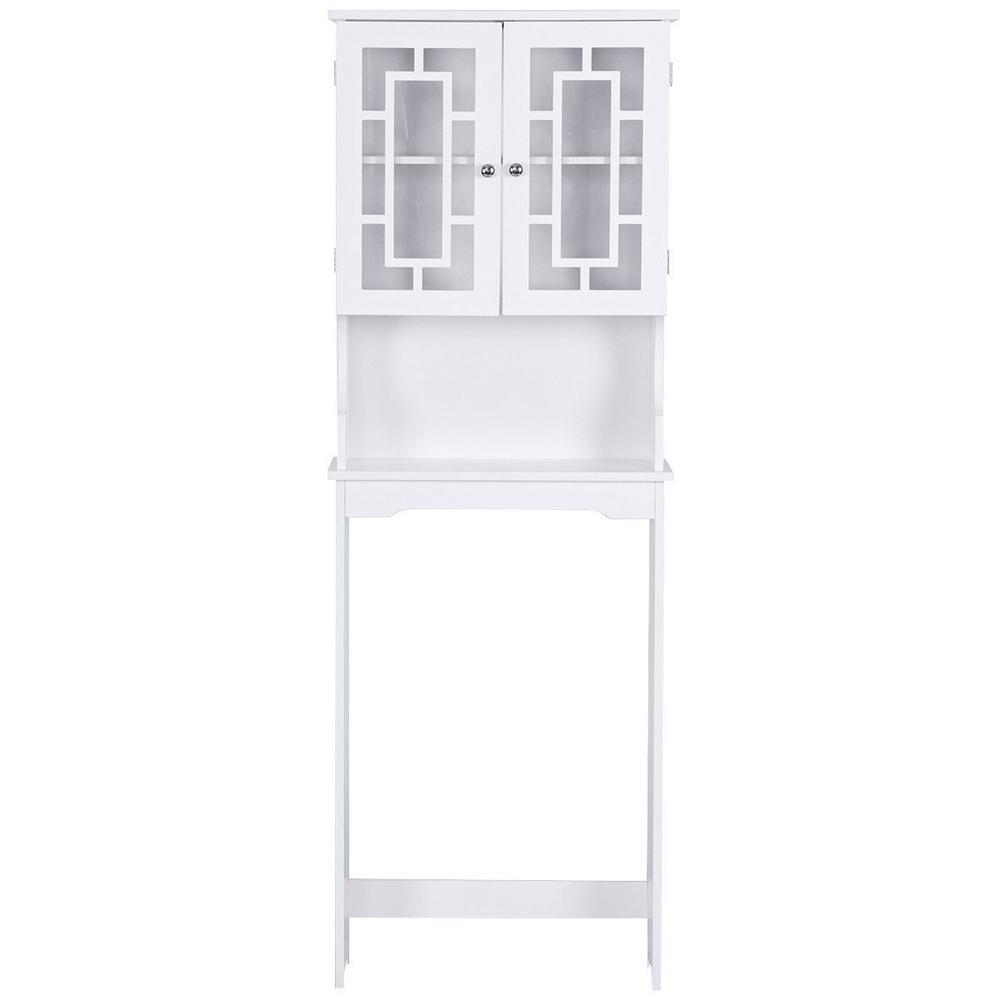 9 in. W x 67 in. H Bathroom Spacesaver in White