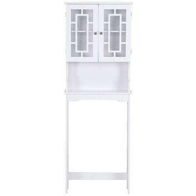 23.3 in. W x 68.1 in. H x 7.4 in. D Space Saver in White