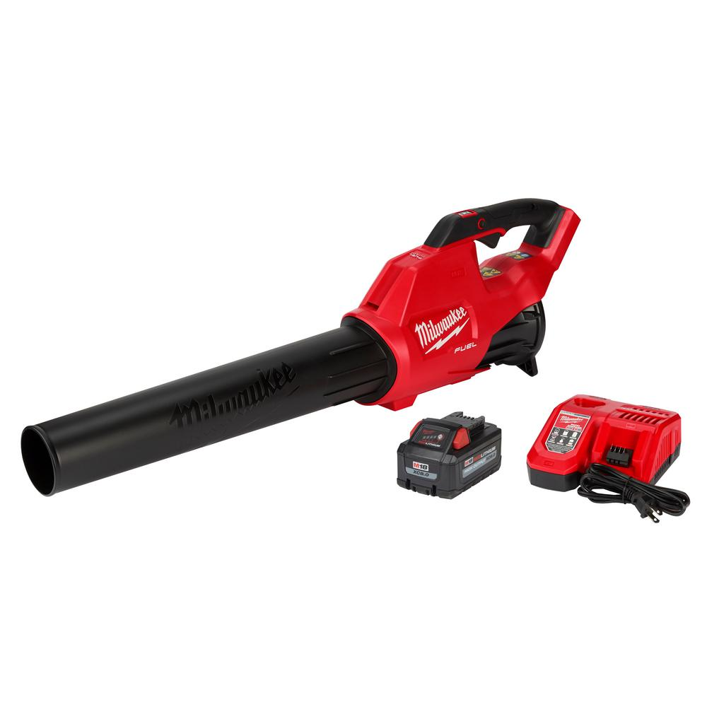 Milwaukee M18 FUEL 120 MPH 450 CFM 18-Volt Lithium-Ion Brushless Cordless Handheld Blower Kit with 8.0 Ah Battery, Rapid Charger