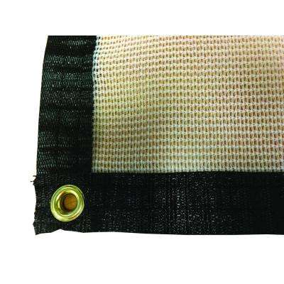6 ft. x 12 ft. White Tropical Weather Shade Cloth with Grommets and 50% Shade Protection