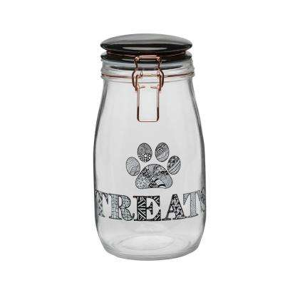 Benji 51 oz. Glass Hermetic Treats Canister