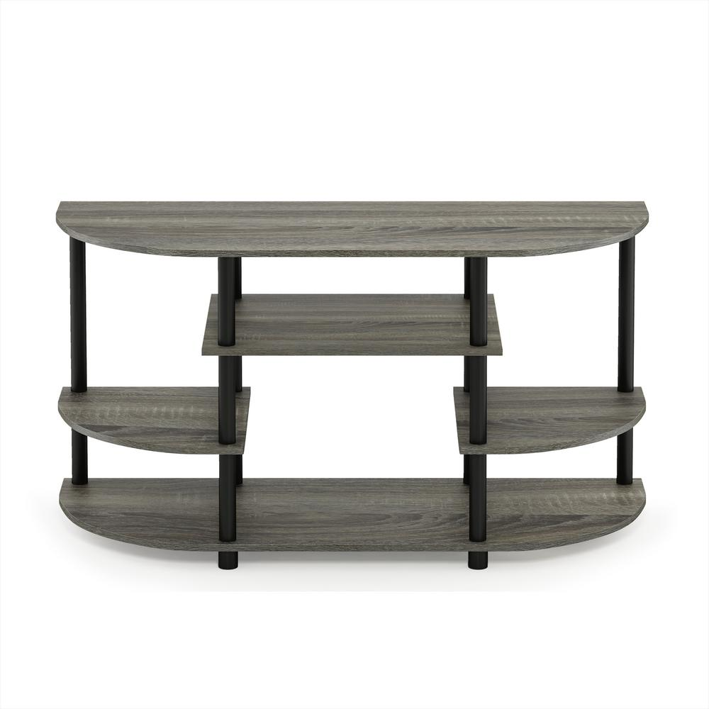 Furinno Jaya French Oak Grey Simple Design No Tool Tv Stand 15116gyw Bk The Home Depot