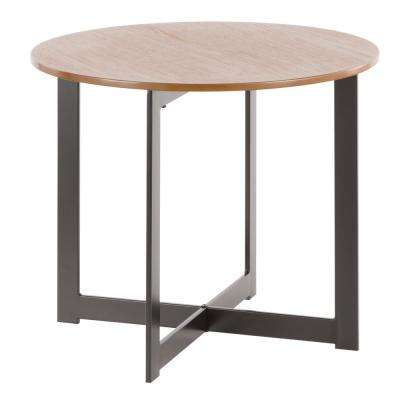 Cosmopolitan Walnut and Black End Table