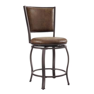 Dubois 24 in. Brown Counter Stool