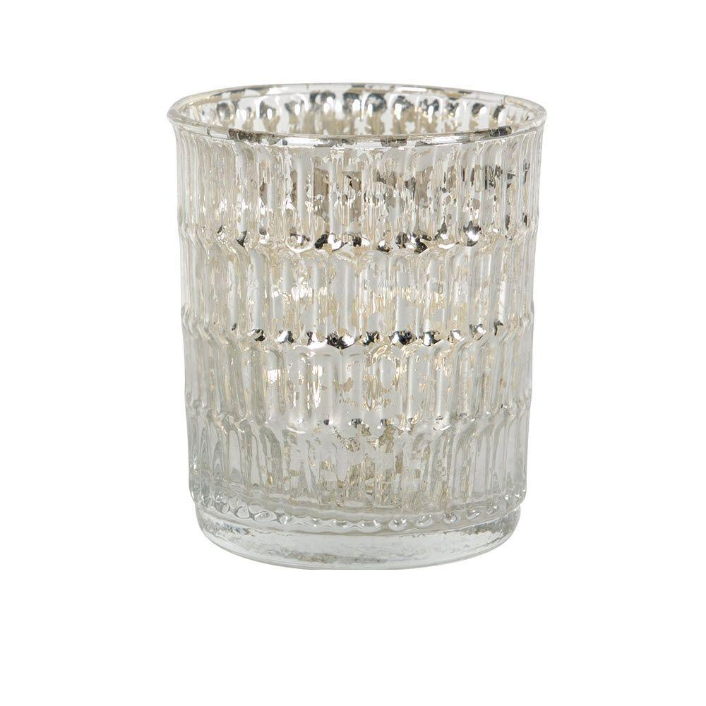 Felicity Mercury Glass Candle Holder, Clear