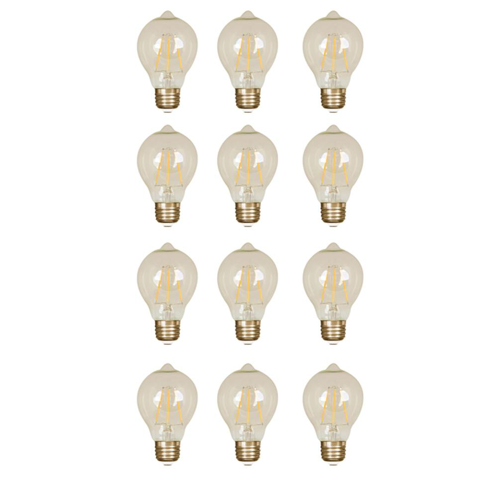 60-Watt Equivalent Soft White AT19 Dimmable LED Antique Edison Amber Glass