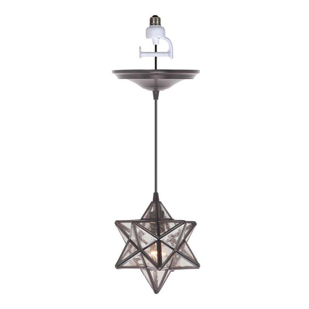 Home decorators collection moravian 1 light bronze pendant home decorators collection moravian 1 light bronze pendant conversion kit 1236000280 the home depot aloadofball Choice Image