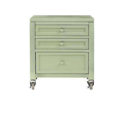 Craft Space 21 in. W Rhododendron Leaf 3-Drawer Cart