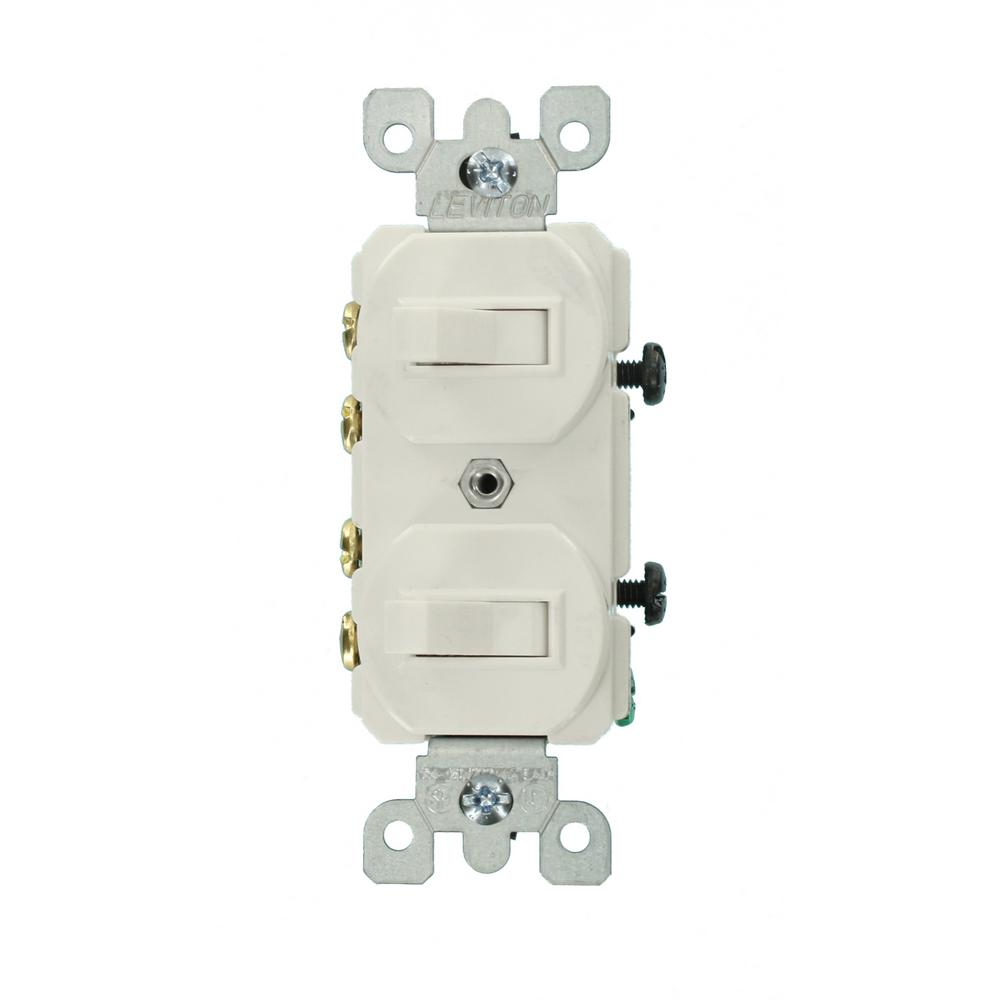 white leviton switches 5243 w 64_1000 3 way switches dimmers, switches & outlets the home depot  at n-0.co