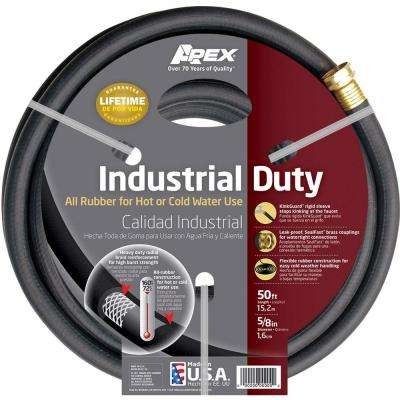 5/8 In. Dia X 50 Ft. Black Rubber Commercial Hot Water Hose