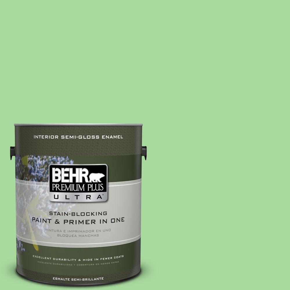 BEHR Premium Plus Ultra 1-gal. #440B-4 Cool Aloe Semi-Gloss Enamel Interior Paint