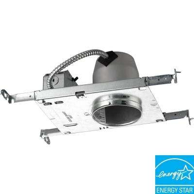 4 in. Metallic Compact Fluorescent New Construction Recessed Housing, Air Tight, IC