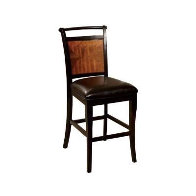 Salida II Transitional 42.5 in. H Black and Antique Oak Finish Counter Height Chair with PU Seat