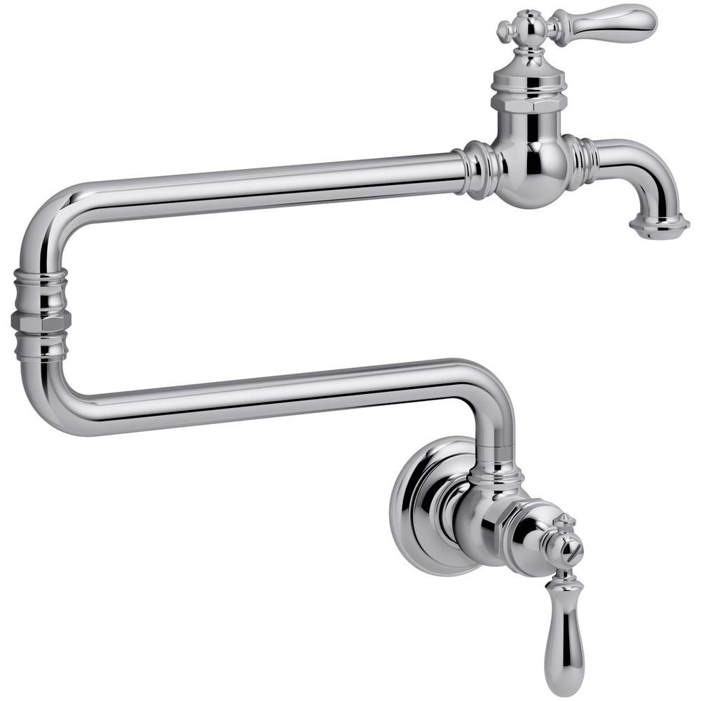 Kohler Artifacts 2 Handle Wall Mounted Potfiller In Polished Chrome