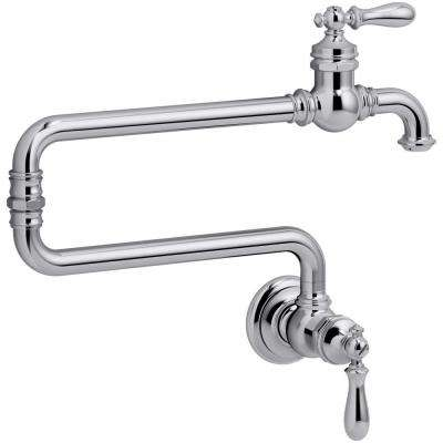 Artifacts 2-Handle Wall Mounted Potfiller in Polished Chrome