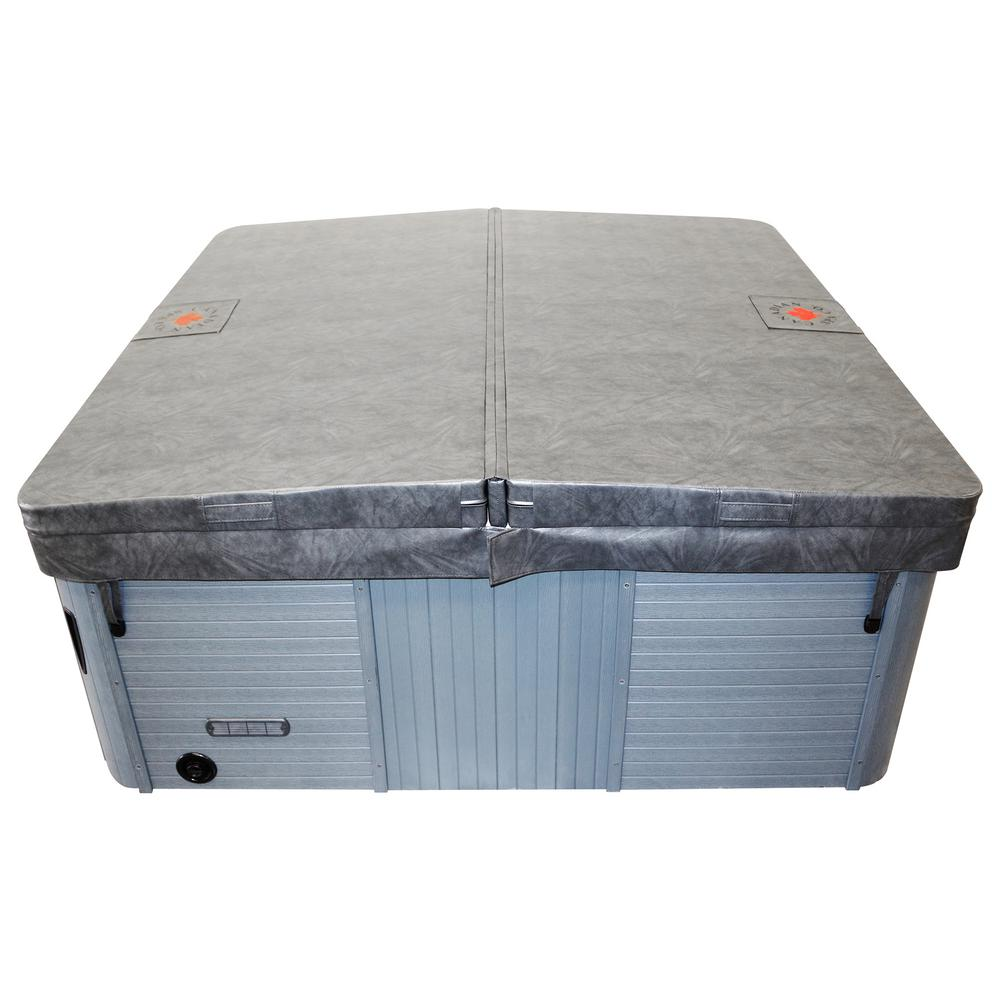 Canadian Spa Company 87 in. x 74 in. Rectangular Hot Tub Cover with 5 in./3 in. Taper - Charcoal