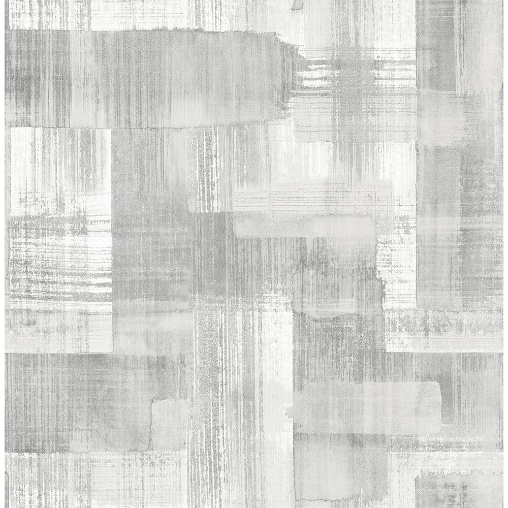 A Street 56 4 Sq Ft Trosa Grey Brushstroke Wallpaper 2889 25227 The Home Depot