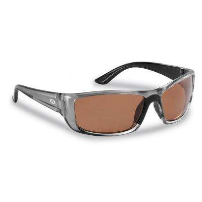 Buchanan Polarized Sunglasses Crystal Gunmetal Frame with Copper Lens