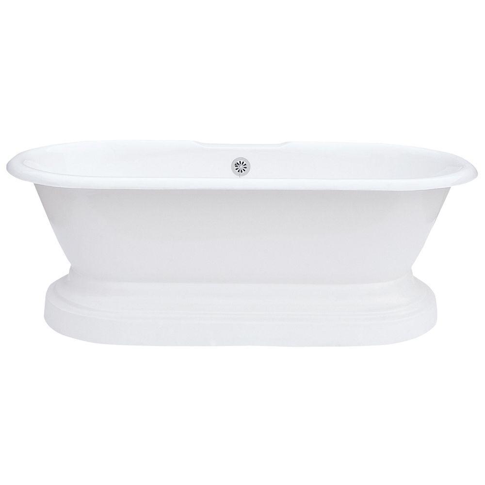 Cast Iron Dual Tub On Plinth Less Faucet