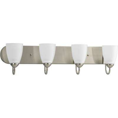 Gather Collection 4-Light Brushed Nickel Bath Light