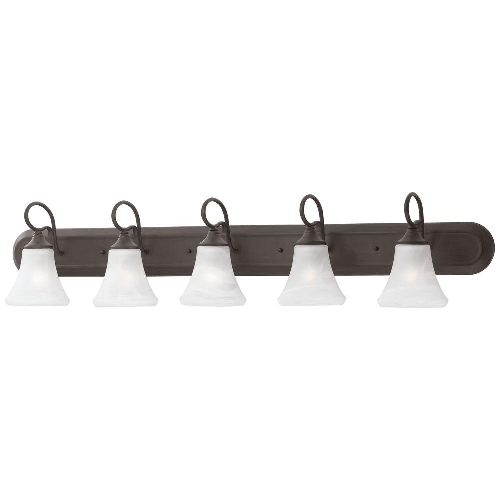 Elipse 5-Light Painted Bronze Wall Vanity Light
