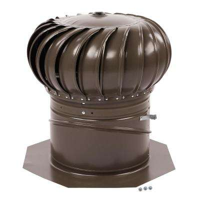 12 in. Weathered Wood Galvanized Internally Braced Dual-Bearing Wind Turbine