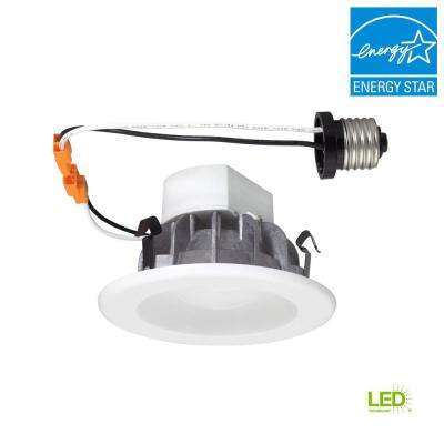 4 in. White Recessed LED Ceiling Light with Magnetic Trim Ring, 5000K, 96 CRI