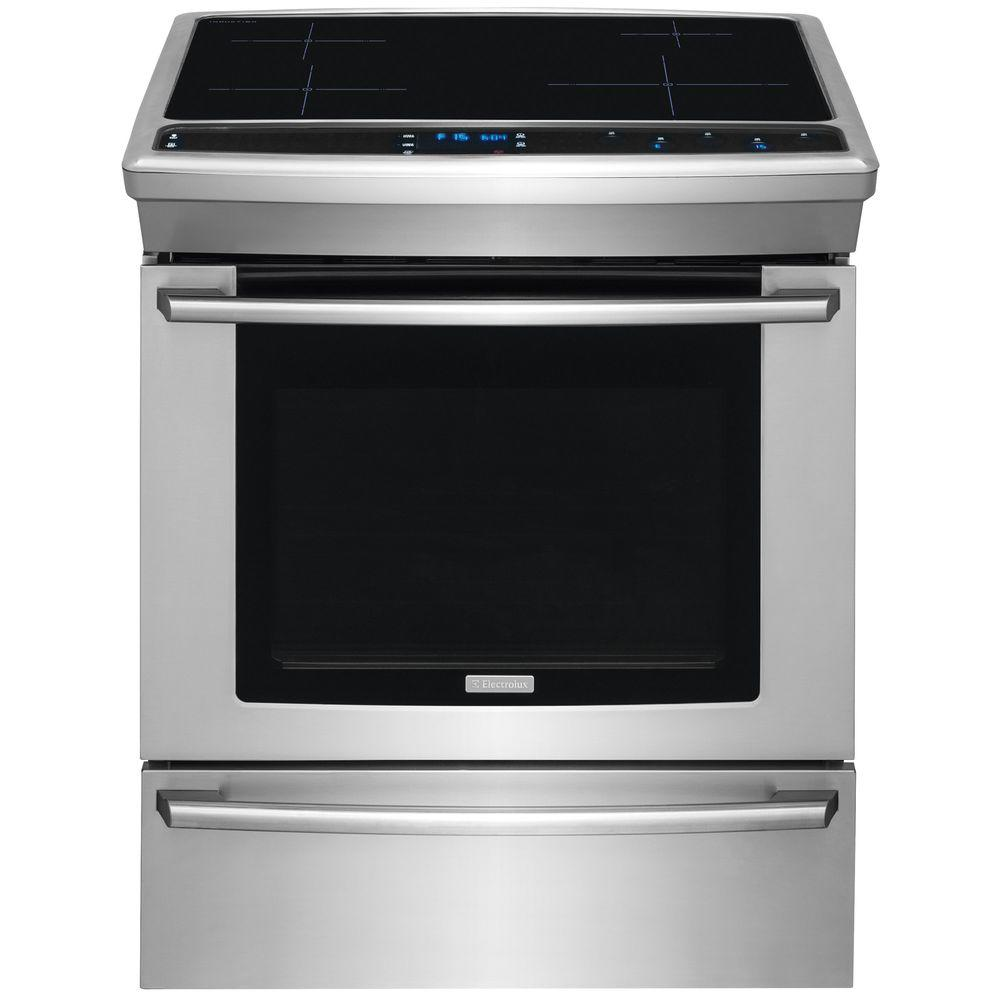 Wave-Touch 30 in. 4.6 cu. ft. Induction Slide-In Range with Self-Cleaning