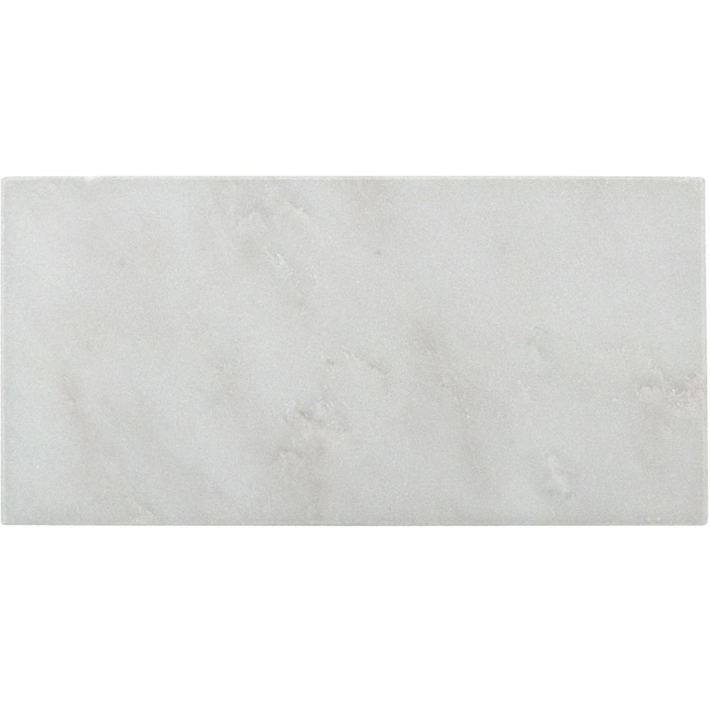 MSI Arabescato Carrara Beveled 3 in. x 6 in. Honed Marble Floor and Wall Tile (1 sq. ft. / case)