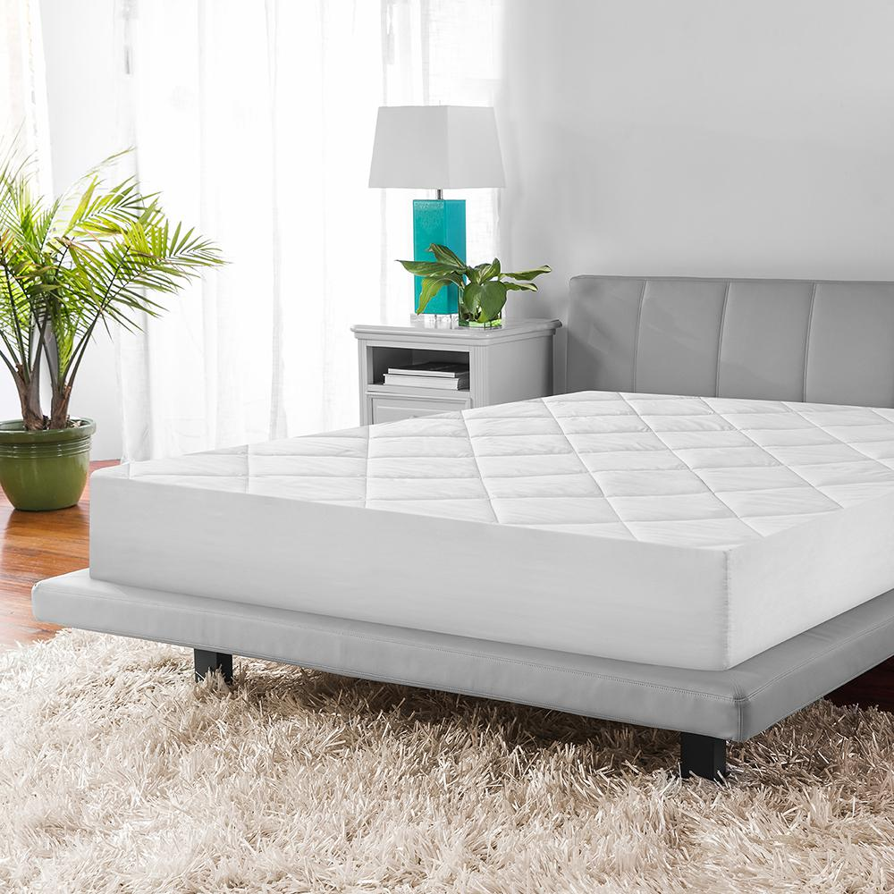 Soft-Tex Micro Shield White Mattress Cover-71153 - The Home Depot