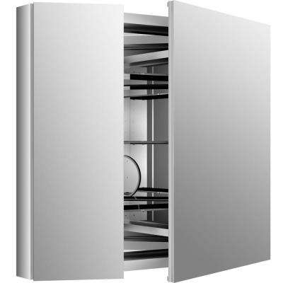 Verdera 34 in. x 30 in. Recessed or Surface Mount Mirror Cabinet with Flat Mirror