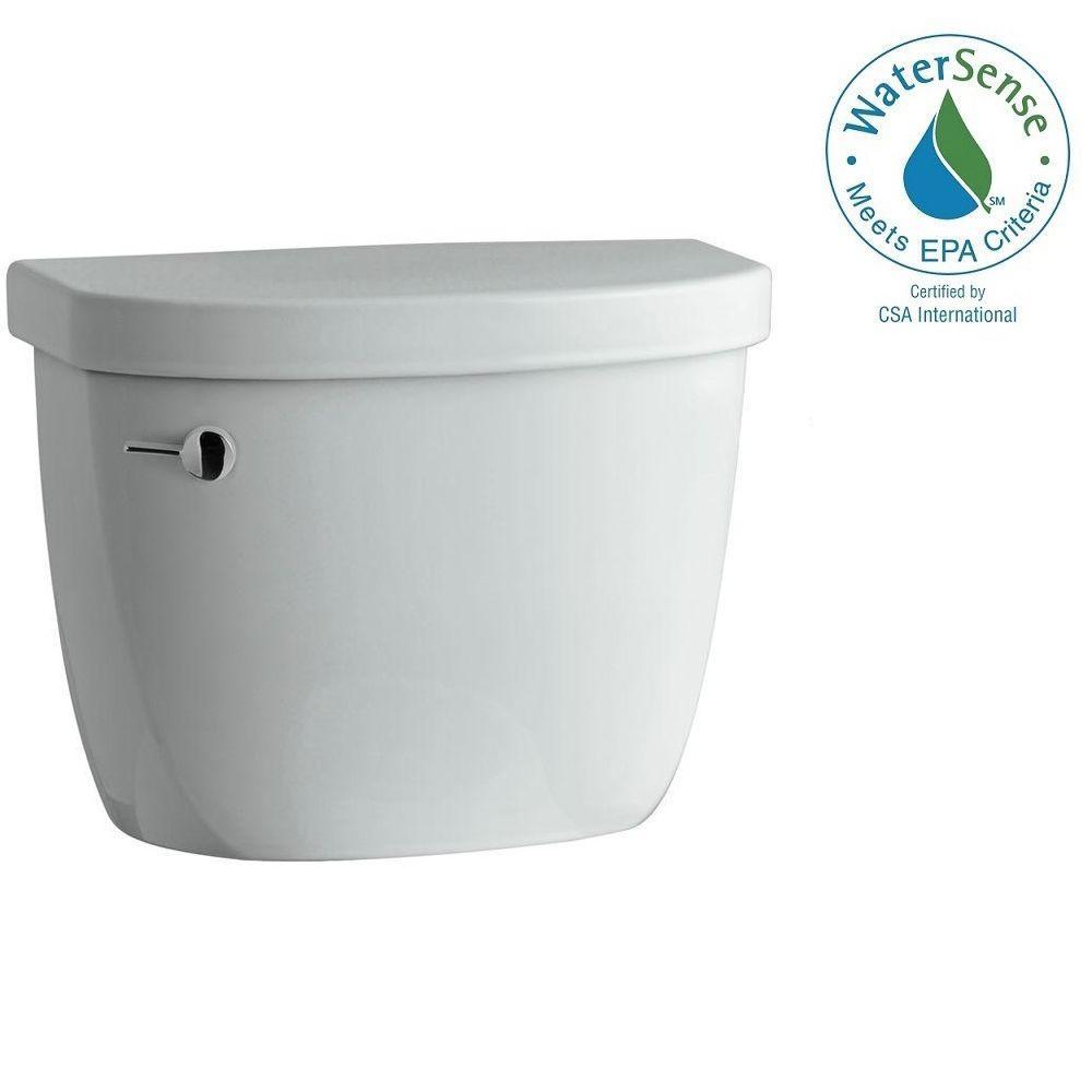 Cimarron 1.28 GPF Single Flush Toilet Tank Only with AquaPiston Flushing Technology in Ice Grey