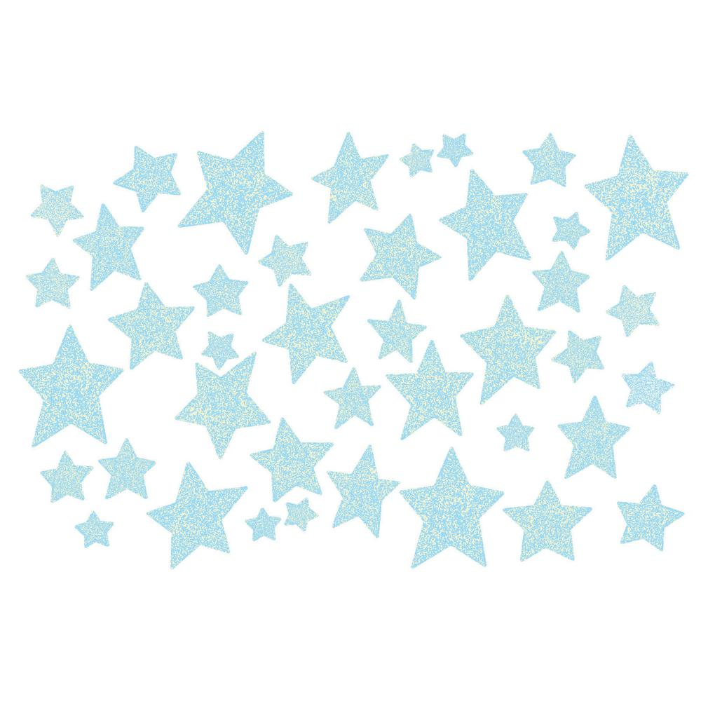 WallPops Wall Pops Star Struck Glow in the Dark Wall Art Kit Wall Decals, Blue