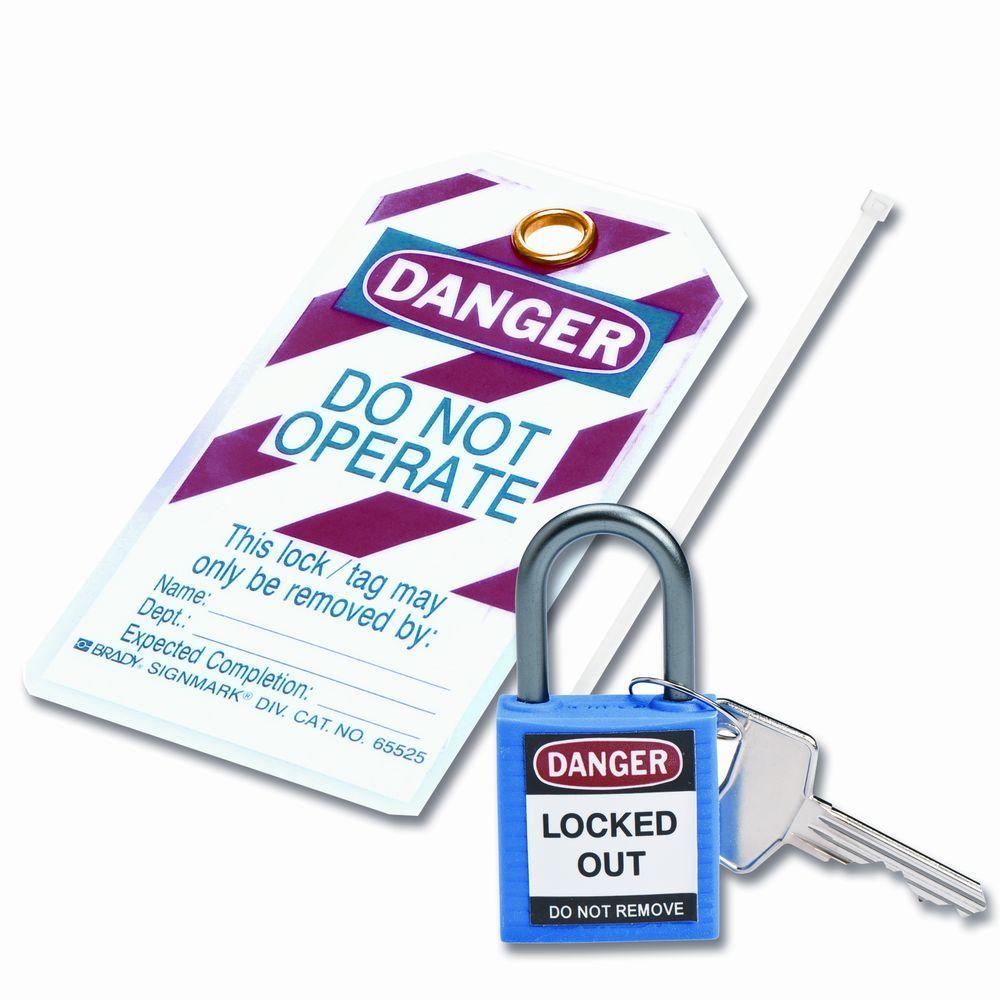 Compact Safety Padlock Kit - Blue