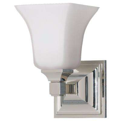 American Foursquare Polished Nickel Vanity Light