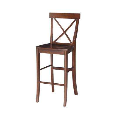 X Back 30 in. Espresso Bar Stool