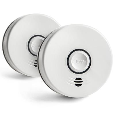 10-Year Sealed Battery Smoke Detector with Intelligent Wire-Free Voice Interconnect  (2-pack)