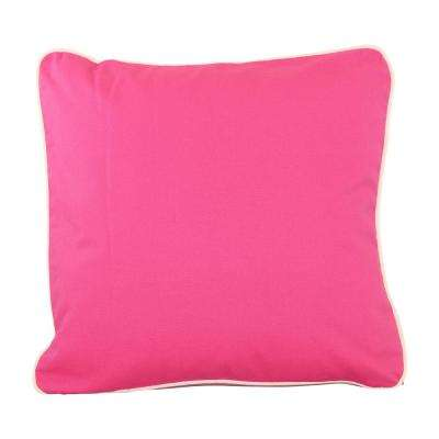 20 in. x 20 in. Hot Pink  Standard Pillow with Green Eco Friendly Insert