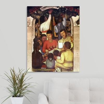 """24 in. x 30 in. """"Rivera: Education, 1926"""" by  Diego Rivera Canvas Wall Art"""