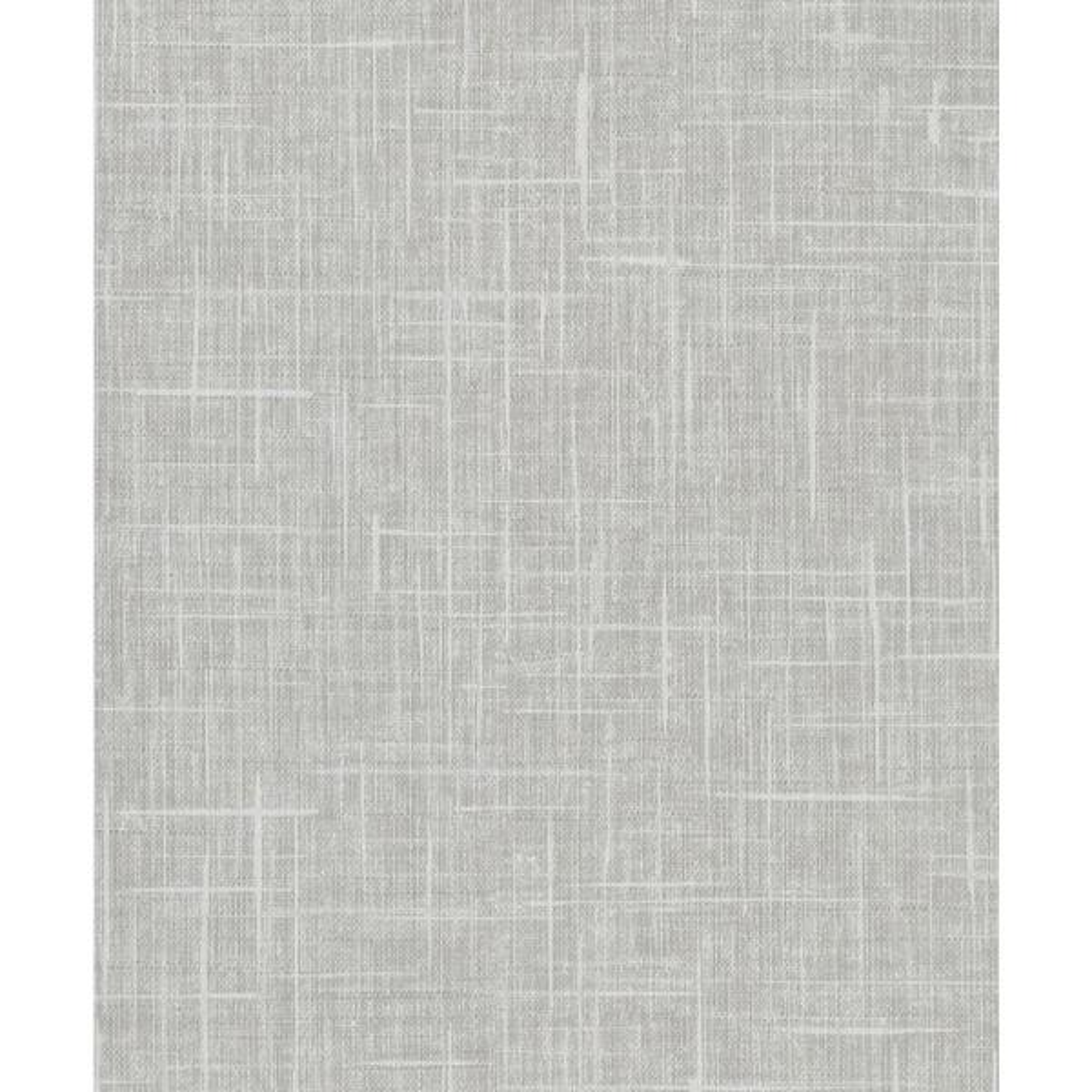 8 in. x 10 in. Stannis Grey Linen Texture Wallpaper Sample